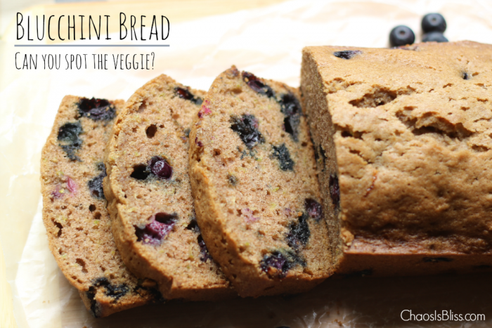 A zucchini recipe never tasted sweeter! A zucchini bread recipe made even more delicious with fresh blueberries, we call it Blucchini Bread.