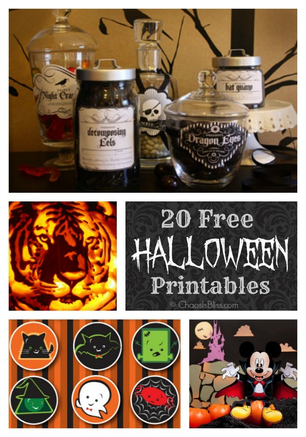 Hosting a Halloween party? Here are 20 free Halloween printables to decorate your house for Halloween!