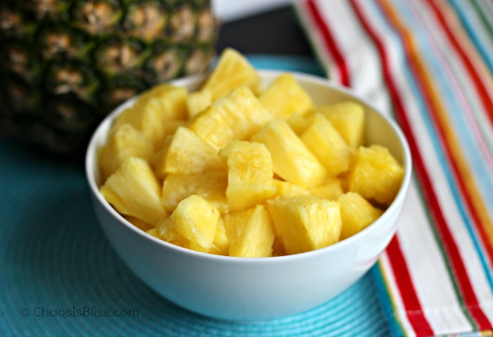 Easy way to core and slice a pineapple