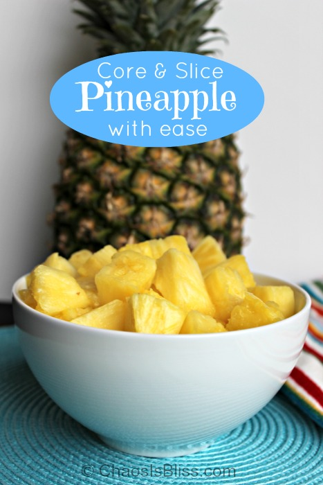 Core and slice pineapple