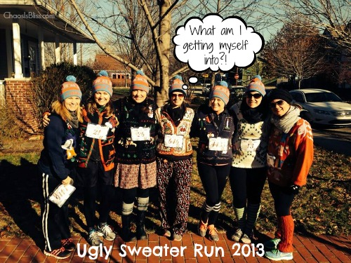 Ugly Sweater Run with Indianapolis women bloggers