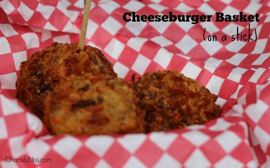 Cheeseburger Basket on a Stick