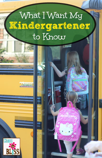 What I Want My Kindergartener To Know | When your last child starts school