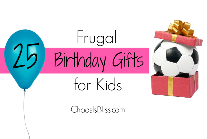 On a budget? These frugal birthday gifts for kids will give you a ton of easy, fresh ideas for the next birthday party your child attends!