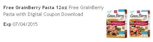 Kroger free Grainberry Pasta