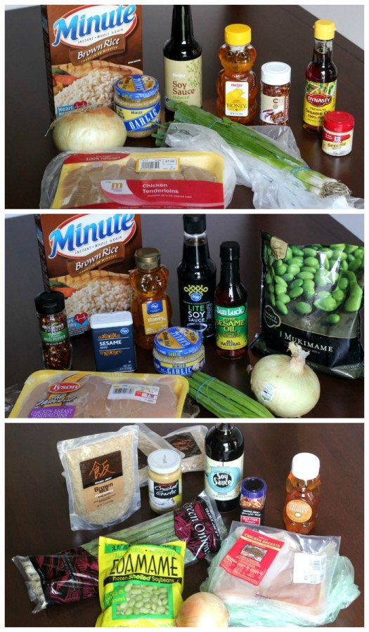 Grocery store comparison of three stores, one recipe.