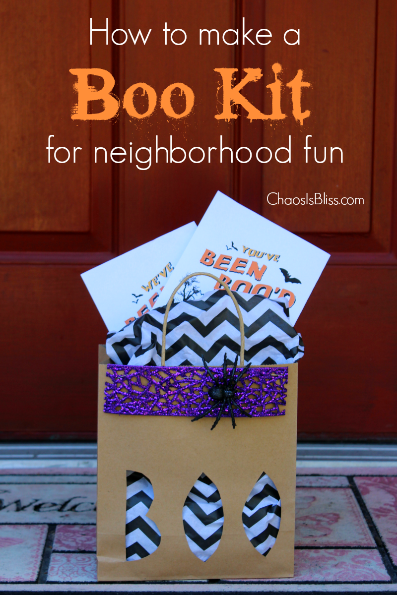 Have some family fun in your neighborhood with this Boo Kit! Learn how to make a Boo Kit with a free Halloween printable.