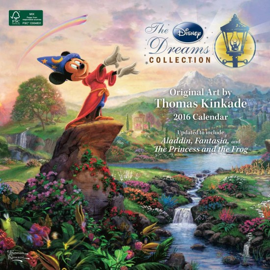 Disney Thomas Kincade Calendar