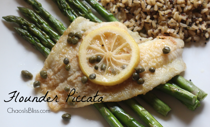 A twist on a traditional chicken piccata is this fish piccata recipe, using flounder. It's a healthy recipe with lemon and capers.