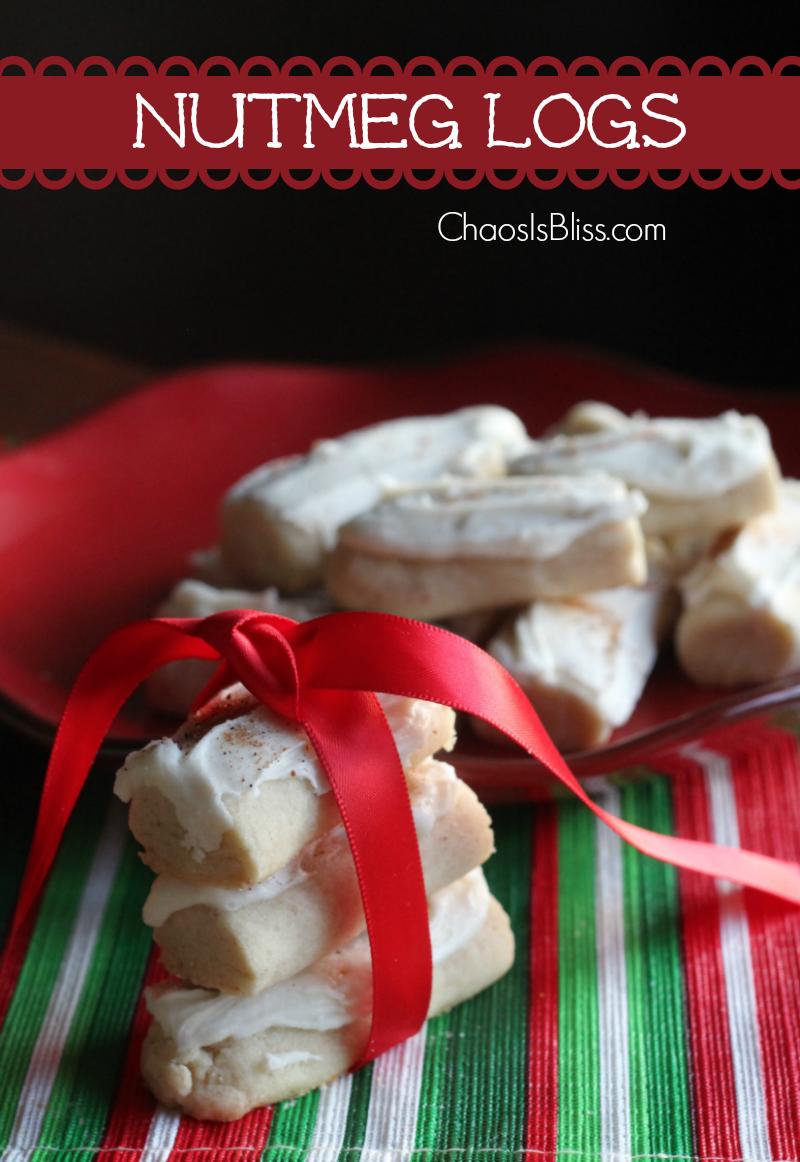Nutmeg Logs Christmas Cookie Recipe