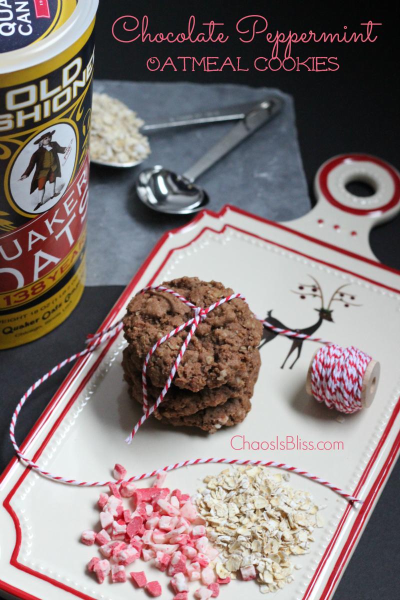 Chocolate Peppermint Oatmeal Cookies Recipe