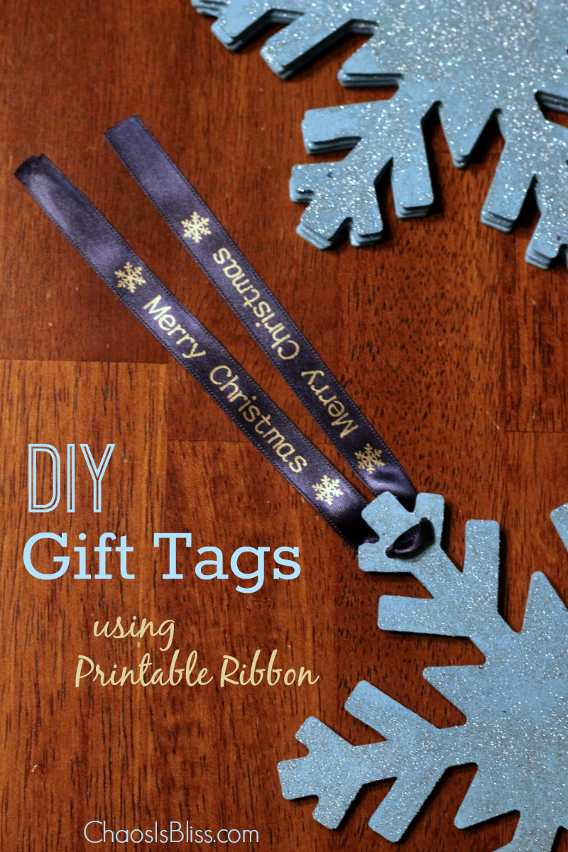 Create your own DIY gift tags using printable ribbon. So easy and cute!