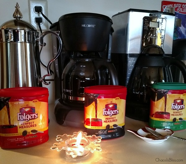 The perfect Christmas coffee bar starts with Folgers Perfect Measures.