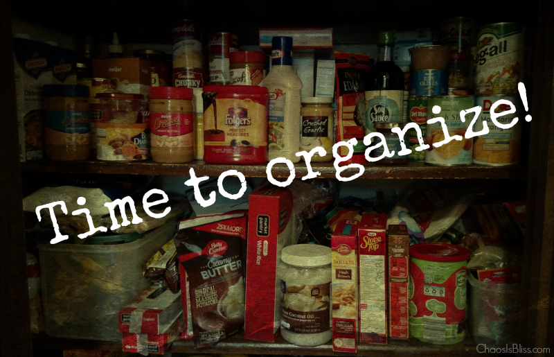 Spend less on groceries by keeping an organized pantry.