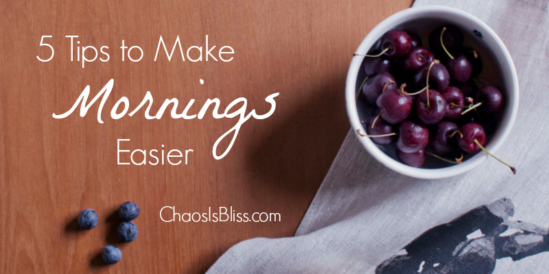 Are your mornings with kids hectic? Here are 5 tips to make your mornings easier!
