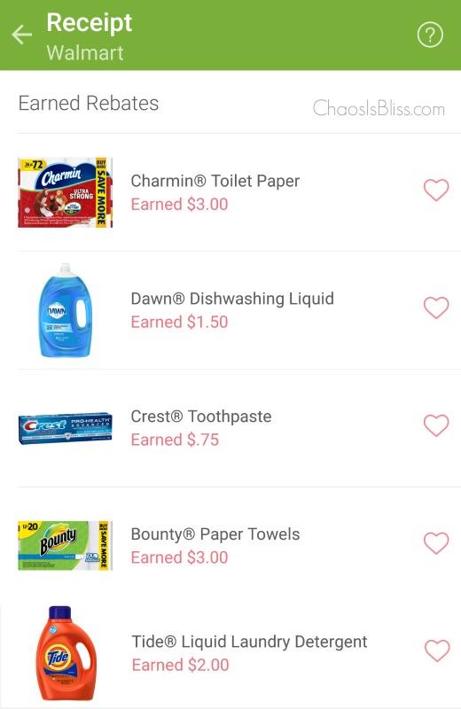 Ibotta Walmart receipt